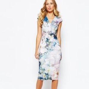 Ted Baker Amily Floral Geo Bodycon Dress