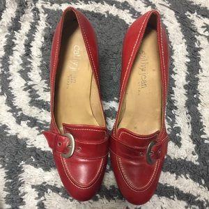 Closed Toe Buckle Detail Heels