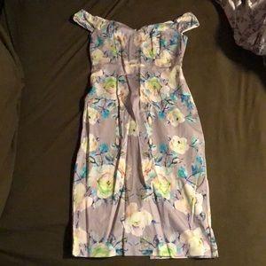 ASOS flora print bodycon dress