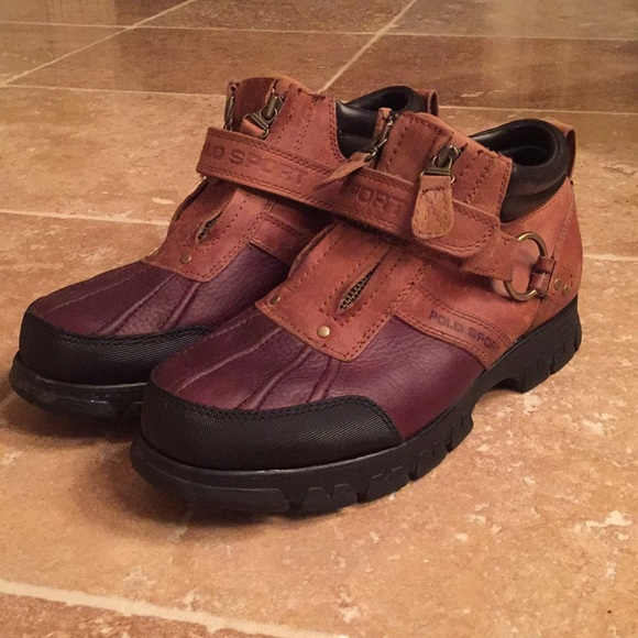 Mens Polo Sport Duck Bootsshoes Size 5