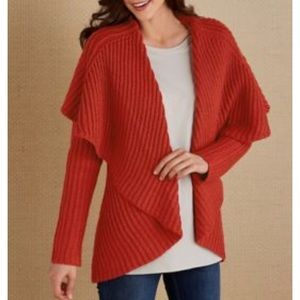 Soft Surroundings Courchevel Cardigan Ribbed