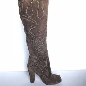 Jeffrey Campbell Ibiza Suede Embroidered Boots - 6