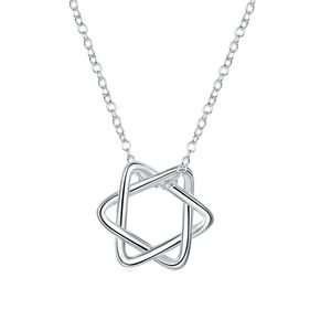 Jewelry - Silver Jewish Star Of David Pentagram Necklace