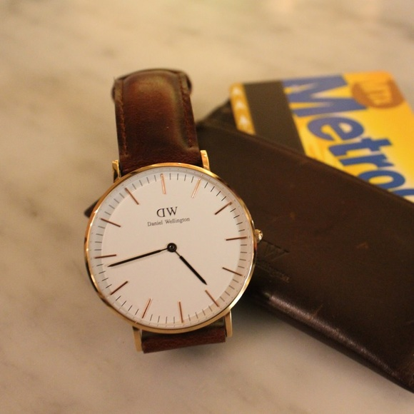 Daniel Wellington Accessories - Daniel Wellington Watch Dark Brown Leather Band