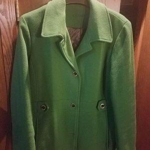 Green Calvin Klein winter coat
