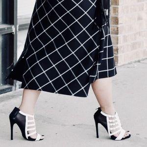 Shoes - B&W Mesh Heels