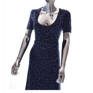 BETSEY JOHNSON Leopard Print Sweater Dress