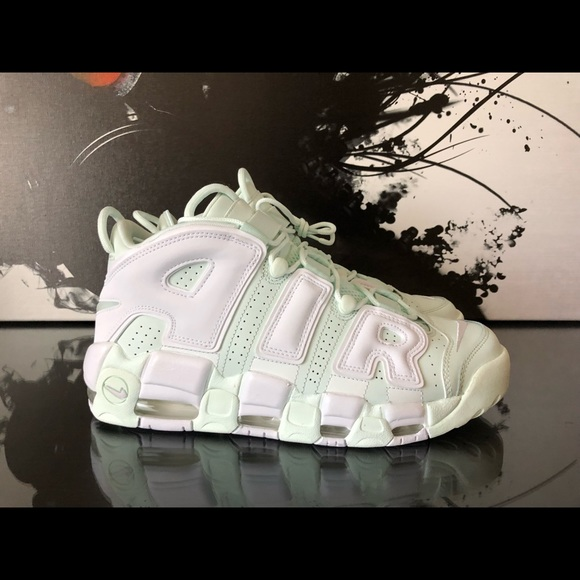 super popular 7ed58 76cac Women s Nike Air More Uptempo Barely Green   NEW