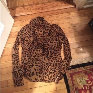 Rachel Zoe leopard print blouse, size 6