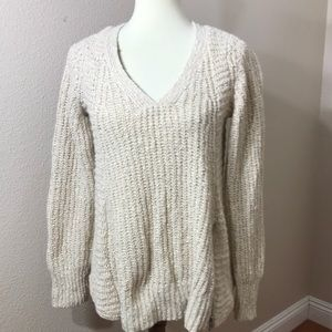 Anthropologie Moth Pullover Sweater Side zipper