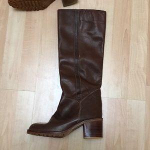 Vintage Brown 70's Boots 8.5