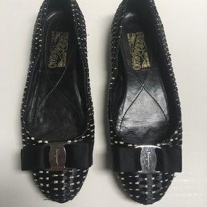 Salvatore Ferragamo Woven Ballerina Flat Shoes 6.5