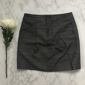 Ann taylor petite tailored gray skirt 4p work