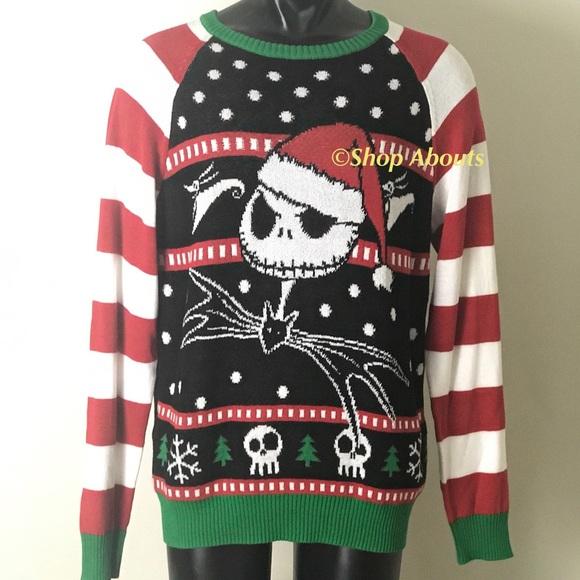 Tim Burton Christmas Jumper.New Disney Jack Nightmare Ugly Christmas Sweater