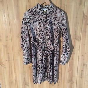 Motherhood Maternity leopard print shirt dress