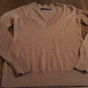 The limited camel V-neck sweater size xs