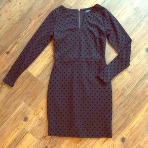 The limited Velvet polkadot black dress
