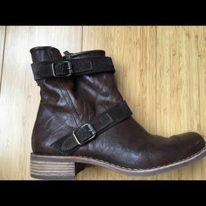 Paul Green Size 8 Ally Moto Tobacco Boots