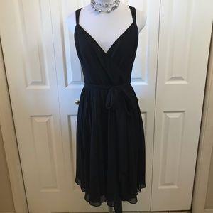 Ralph Lauren Silk Chiffon Black Cocktail Dress NWT
