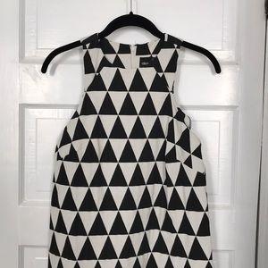 ASOS Graphic B&W Mod US 6 Triangle Shift Dress