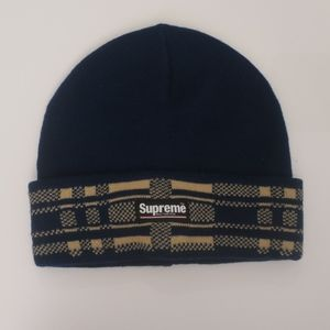 Supreme Accessories - Navy Supreme Beanie fbe7814cf1a