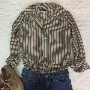 Vintage 1970s Striped Button Up Shirt