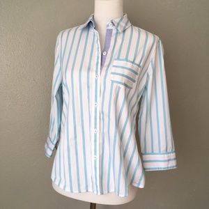 Foxcroft Classic Striped Professional Button Up