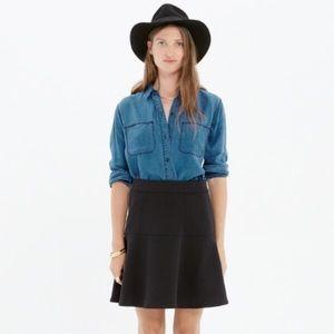 Madewell Wavelength skirt, black, size 2