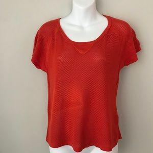 Rag & Bone Orange Knit Mesh Top size S