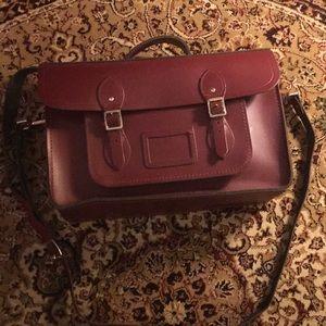 Oxblood Cambridge Satchel Company leather bag