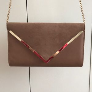 Like New suede clutch