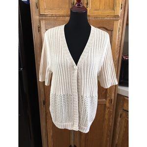 Crochet Cardigan Sweater by Croft & Barrow XL