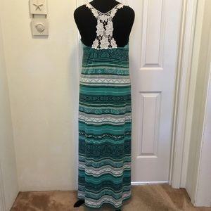 Pretty Lace Back Maxi Dress