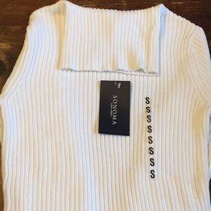 NWT white cotton turtleneck