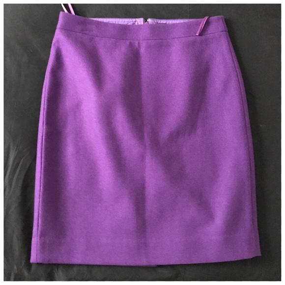 0997580911 J. Crew Dresses & Skirts - J Crew The Pencil Skirt double Serge Wool purple