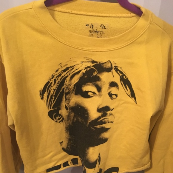 9ce6b783dad541 Forever 21 Tops - Tupac Yellow Sweater Crop Top