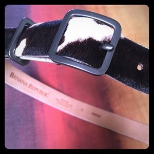 Small Banana Republic Cow-Hair Leather Belt