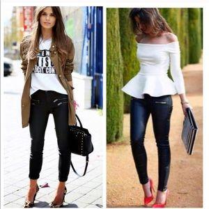 Black Coated Skinny Jeans!