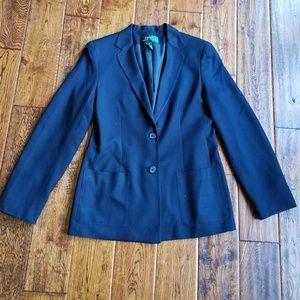 <Ralph lauren> classic silk blazer