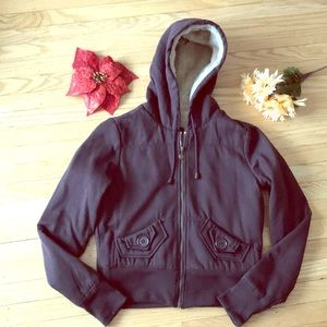 Brown jacket lined w/ faux fur 🧥