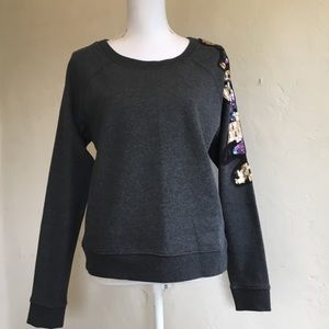 NEW Anthropologie Belle Vere sequined Top Size L