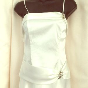 Aspeed Long White Formal Party Dress size Small