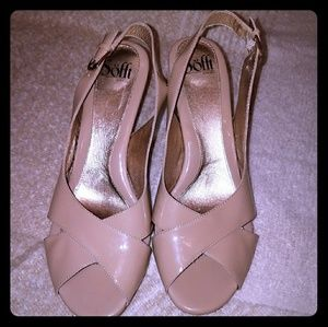 Sofft Slingback Heels in Nude size 10W