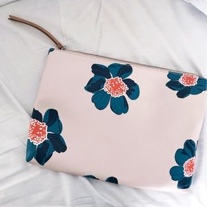 Banana Republic Vegan Leather Floral Clutch