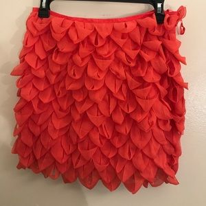 Ruffled Coral Skirt Size 6