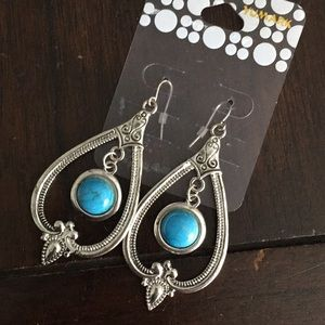 icing Jewelry - NWT Turquoise Stone Earrings