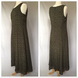 Vintage 90s Floral Maxi Dress, Fully Lined