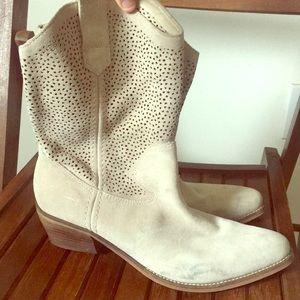 Suede BCBG boots.