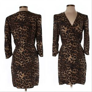 Rebecca Minkoff Silk Leopard Print Sheath Dress
