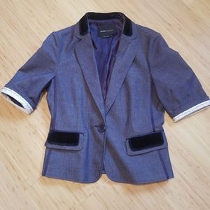 BCBG Max Azria denim blazer w velvet Small